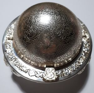 Vintage Mayell Silver Plate Domed Butter Dish